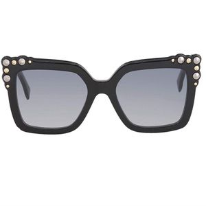 NEW 💯 FENDI Sunglasses 35mm Black Gold Silver